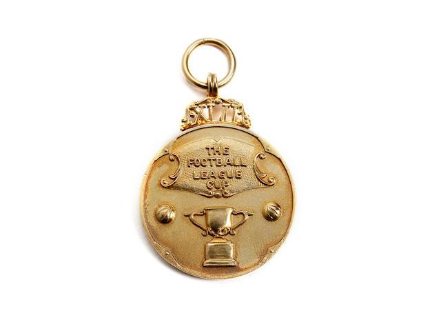 2001/02 Football League Cup medal awarded to Blackburn coach Phil Boersma