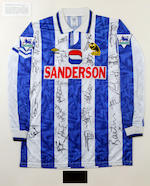 A collection of 22 Premier League inaugural season hand signed match worn shirts