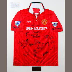 A collection of 22 Premier League match worn shirts hand signed by each squad, one from each club competing in the very first season of the Premier League