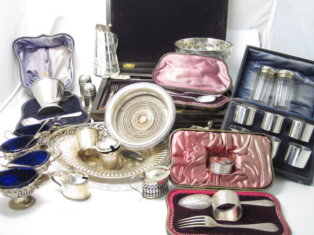 A large collection of silver various makers and dates