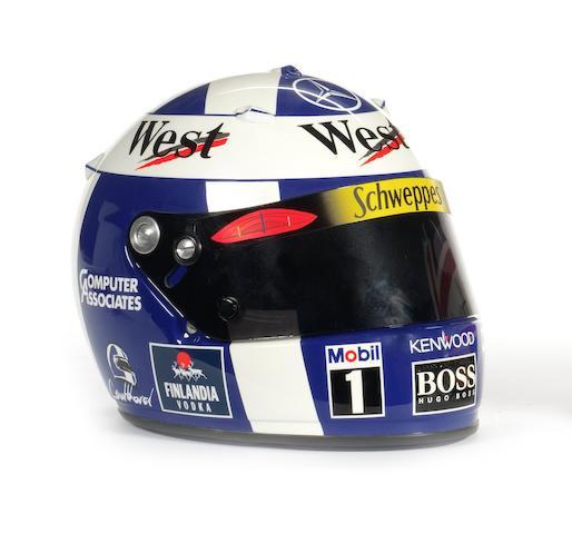 A David Coulthard Arai helmet,