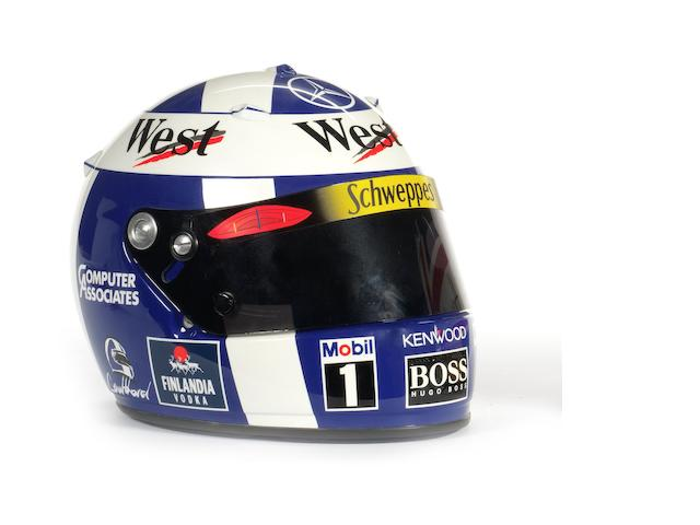 A David Coulthard Arai helmet,