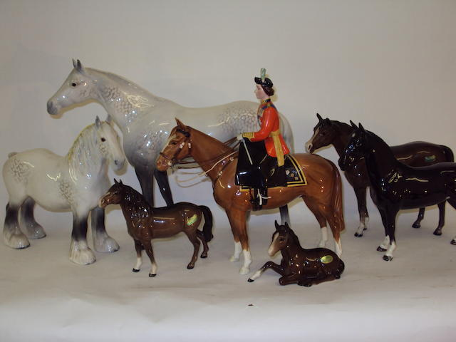 A collection of Beswick horses