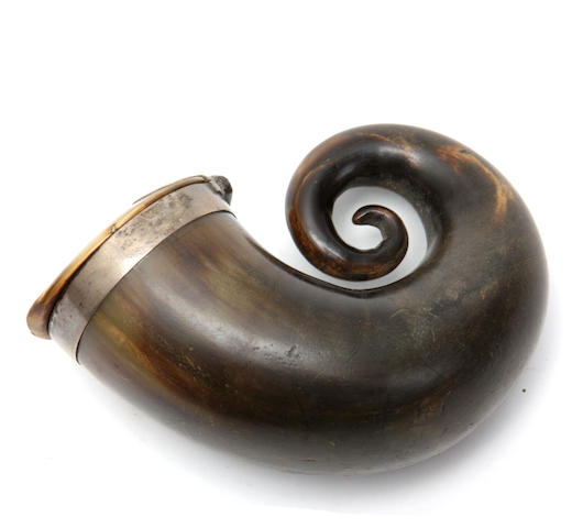 A 19th century Scottish horn snuff mull