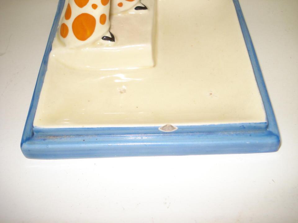 A rare Clarice Cliff 'Lido Lady' ashtray Circa 1930