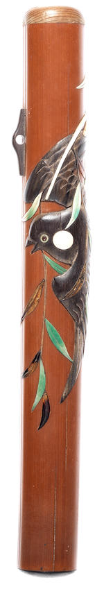 Five kiseruzutsu (pipecase) 19th century