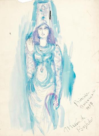 Fahrelnissa Zeid (Turkish, 1901-91) Sumerian Princess (10)