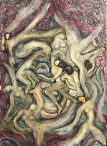 Fahrelnissa Zeid (Turkish, 1901-91) Nudes Nude Dance
