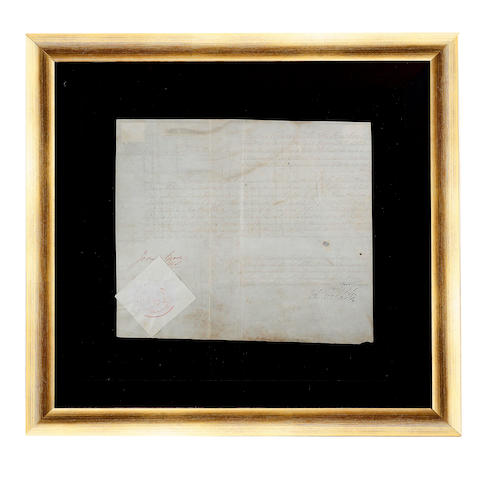 A Colonial Convict letter of Absolute Remission on vellum, No 348