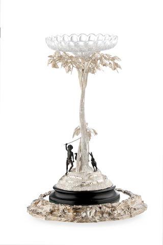 An Australian  silver centrepiece  probably by Jochim Matthias Wendt, Adelaide, 1875