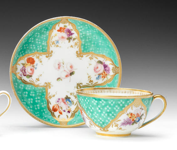 A Nantgarw teacup and saucer, circa 1818-20