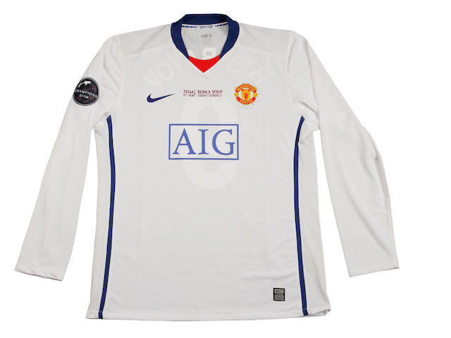 2009 Champions League final shirt worn by Dimitar Berbatov