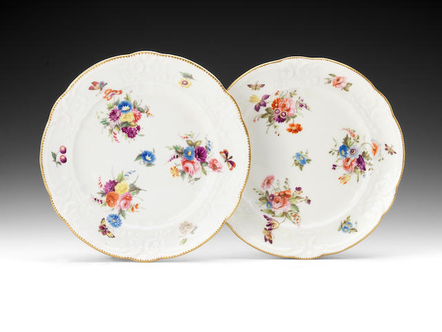 A pair of small Nantgarw plates, circa 1818-20