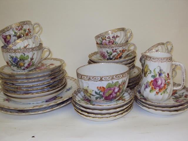 A Dresden part tea service
