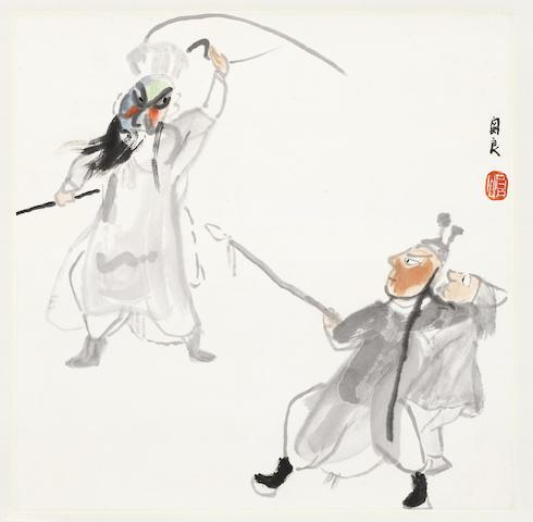Guan Liang (1900-1986) Chinese opera