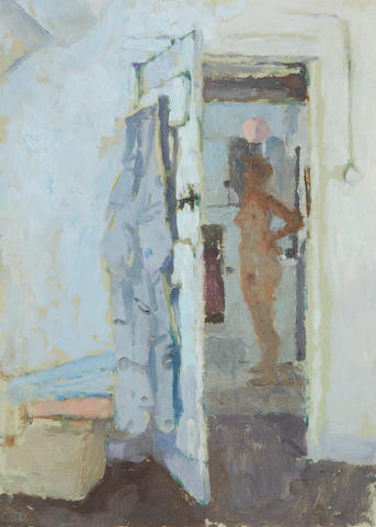 Bernard Dunstan, R.A. (British, born 1920) 'Doorway to bathroom'