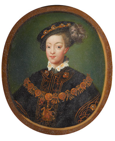 Manner of Isaac Oliver Portrait of Edward VI