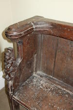 A rare late medieval oak misericord chair  late 15th/early 16th century, Argyll, West Highlands