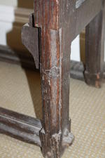 A rare late medieval oak misericord chair, late 15th/early 16th century, Argyll, West Highlands