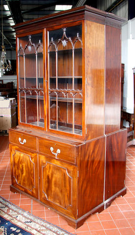 A pair of late Victorian mahogany bookcases,