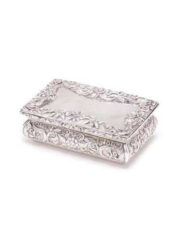 A William IV silver snuff box by Nathaniel Mills, Birmingham 1834