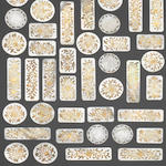 A quantity of 19th century mother of pearl and gilt metal gaming counters possibly Dutch or French   (Qty)