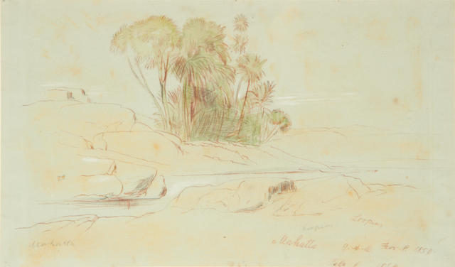Edward Lear (British, 1812-1888) Mahatta, Egypt