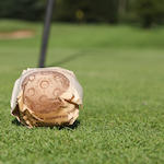 An Army & Navy C.S.L. No. 1 rubber-cored golf ball circa early 1900's