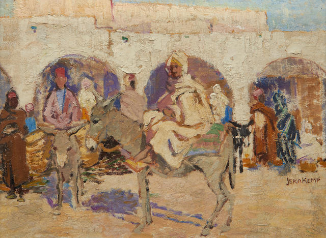 Jeka Kemp (Scottish, 1876-1967) North African street scene