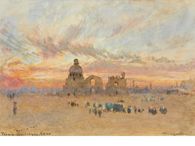 Albert Goodwin, RWS (British, 1845-1932) Tombs of the Caliphs, Cairo