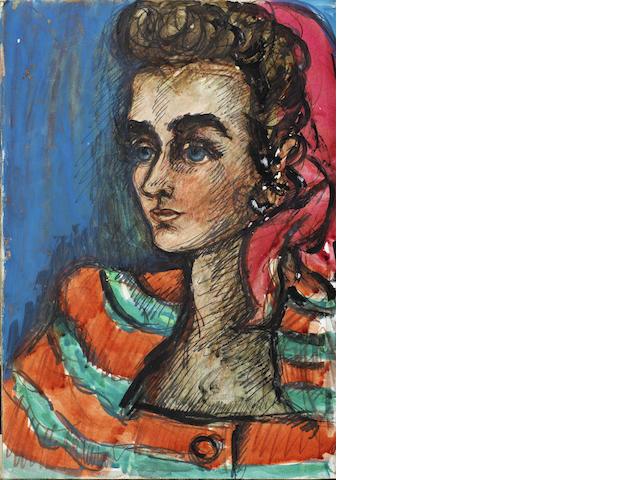 Fahrelnissa Zeid (Turkish, 1901-91) Sketchbook, dated 1946