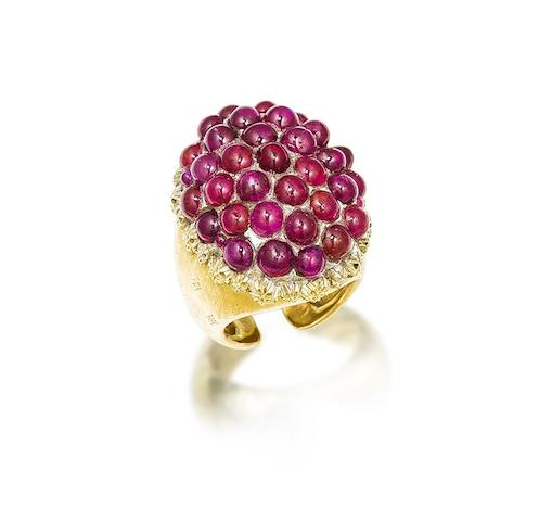 A ruby dress ring, by Buccellati,