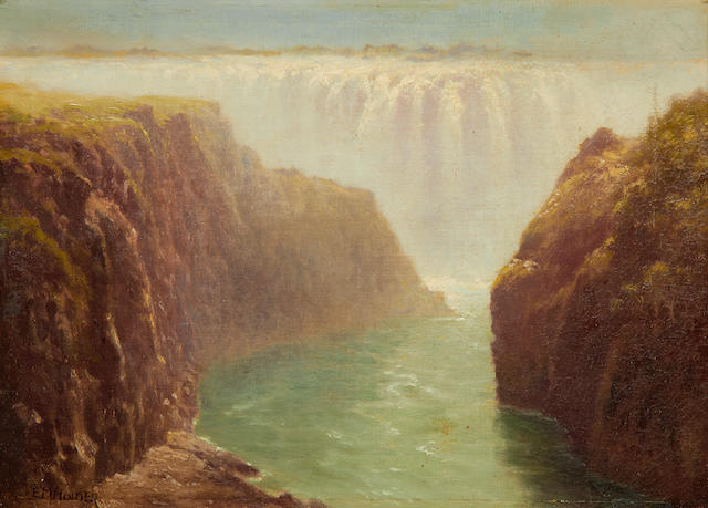 Edward Henry Holder (British, 1847-1922) The Boiling Pot, Victoria Falls
