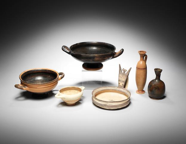 Six Classical terracotta vessels 6