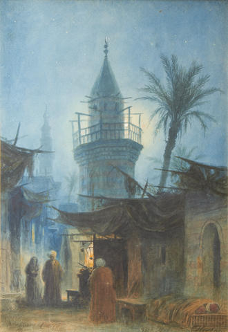 Hermann Ludwig Heubner (German, 1843-1915) The old road, Cairo