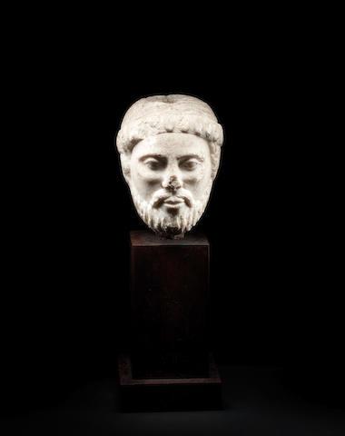A Roman marble head of a man