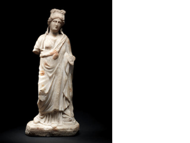 A Roman marble draped figure of Aphrodite