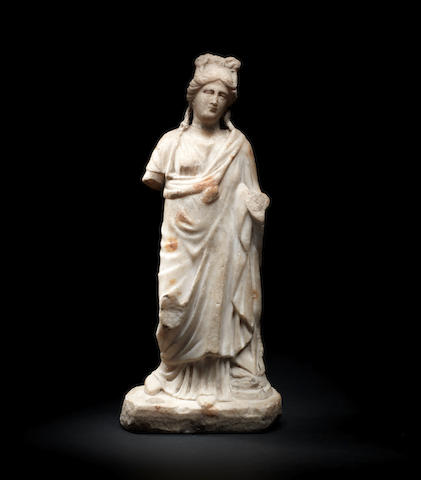 A Roman marble draped figure of Aphrodite