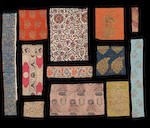A collection of textile Fragments, mainly Safavid Persia, India and Central Asia, mainly 17th - 19th Century(13 boards)