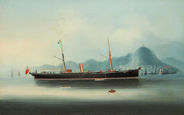 Anglo-Chinese School, 19th Century The S.S. 'Agnes' off Hong Kong