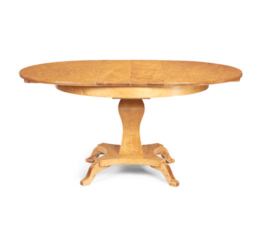 A Biedermeier style extending centre table