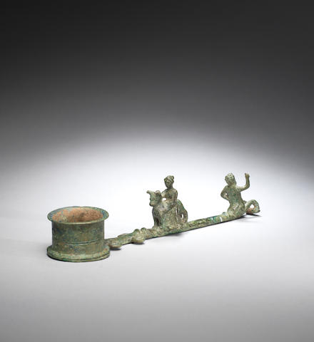 Roman bronze incense burner with Europa and bull