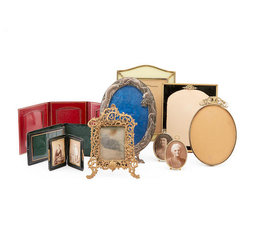 A quantity of Victorian and Edwardian photograph frames
