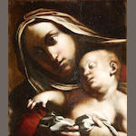 Lombardy School Madonna & Child in oil circa 1590 in original frame