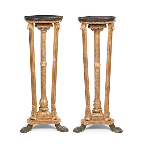A pair of Regency giltwood 'Athenienne' torcheres