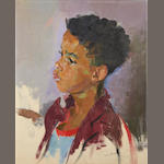 Portrait of an African boy by John Daniel Revel (1884 - 1967