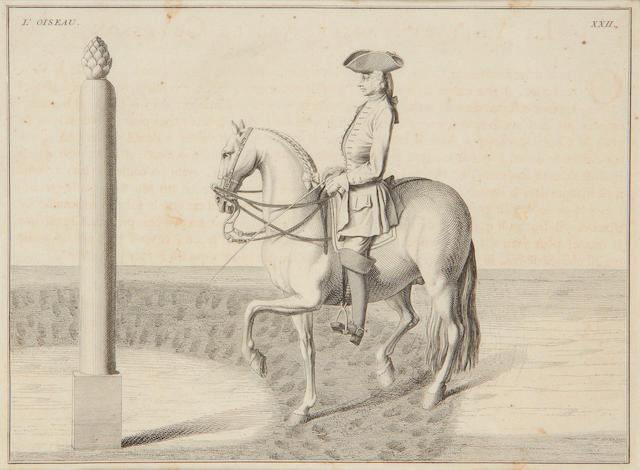 6 18th century Equestrian Baron D'Resenburg prints, 1733 (see invoice)
