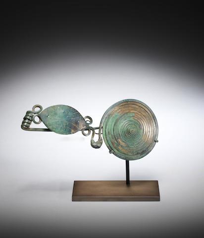 A European bronze fibula