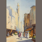David Thomas Rose (British, ?-1938) Street scene, Cairo