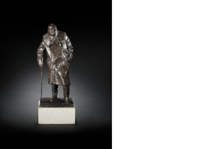 Ivor Roberts-Jones (British, 1916-1966) Winston Churchill 52.1 cm. (20 1/2 in.) high (excluding base)